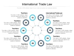 International Trade Law Ppt PowerPoint Presentation Layouts Shapes Cpb