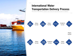 International Water Transportation Delivery Process Ppt PowerPoint Presentation Inspiration Infographic Template PDF