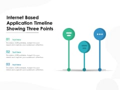 Internet Based Application Timeline Showing Three Points Ppt PowerPoint Presentation Deck PDF