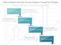 Internet Based Business Survey Diagram Powerpoint Shapes