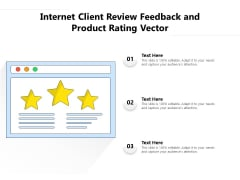 Internet Client Review Feedback And Product Rating Vector Ppt PowerPoint Presentation Pictures Show PDF