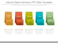 Internet Depth Interviews Ppt Slide Templates