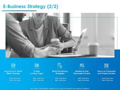 Internet Economy E Business Strategy Social Ppt Icon Brochure PDF