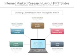 Internet Market Research Layout Ppt Slides