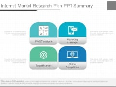 Internet Market Research Plan Ppt Summary