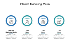 Internet Marketing Matrix Ppt PowerPoint Presentation Layouts Example File Cpb