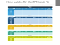 Internet Marketing Plan Chart Ppt Example File