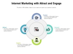 Internet Marketing With Attract And Engage Ppt PowerPoint Presentation File Introduction PDF