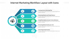Internet Marketing Workflow Layout With Icons Ppt PowerPoint Presentation File Grid PDF