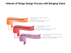 Internet Of Things Design Process With Bringing Value Ppt PowerPoint Presentation Icon Slides PDF