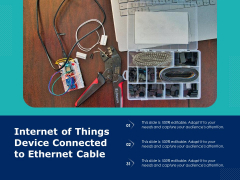 Internet Of Things Device Connected To Ethernet Cable Ppt PowerPoint Presentation Gallery Good PDF