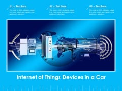 Internet Of Things Devices In A Car Ppt PowerPoint Presentation Outline Deck PDF