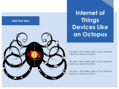 Internet Of Things Devices Like An Octopus Ppt PowerPoint Presentation Icon Images PDF