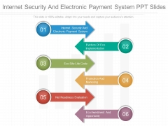 Internet Security And Electronic Payment System Ppt Slides