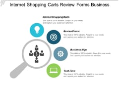 Internet Shopping Carts Review Forms Business Sign Ppt PowerPoint Presentation File Graphics