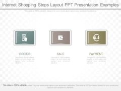 Internet Shopping Steps Layout Ppt Presentation Examples