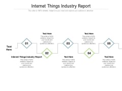 Internet Things Industry Report Ppt PowerPoint Presentation Layouts Background Cpb Pdf