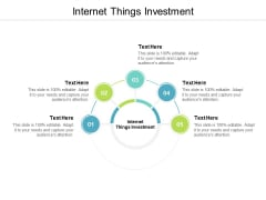 Internet Things Investment Ppt PowerPoint Presentation Slides Elements Cpb