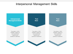 Interpersonal Management Skills Ppt PowerPoint Presentation Slides Cpb