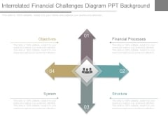 Interrelated Financial Challenges Diagram Ppt Background