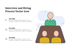 Interview And Hiring Process Vector Icon Ppt PowerPoint Presentation Icon Images PDF