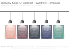 Interview Code Of Conduct Powerpoint Templates