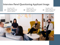 Interview Panel Questioning Applicant Image Ppt PowerPoint Presentation Slides Influencers PDF