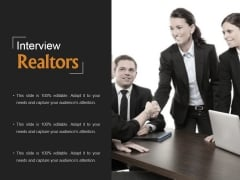 Interview Realtors Ppt PowerPoint Presentation Diagrams