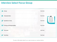 Interview Select Focus Group Ppt PowerPoint Presentation Summary Example File