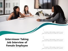 Interviewer Taking Job Interview Of Female Employee Ppt PowerPoint Presentation File Design Templates PDF