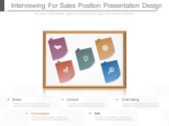 Interviewing For Sales Position Presentation Design