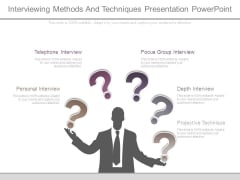 Interviewing Methods And Techniques Presentation Powerpoint
