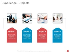 Introduce Yourself Experience Projects Ppt Portfolio Elements PDF