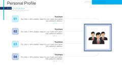 Introduce Yourself For A Meeting Personal Profile Icons PDF