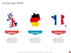 Introduce Yourself Language Skills Ppt Infographics Background Image PDF