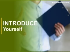 Introduce Yourself Ppt PowerPoint Presentation Complete Deck With Slides