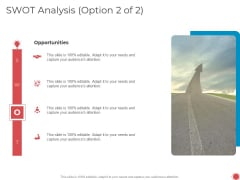Introduce Yourself Swot Analysis Option 2 Of 2 Opportunities Ppt Gallery Portrait PDF