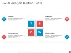 Introduce Yourself Swot Analysis Option Threats Ppt Summary Inspiration PDF