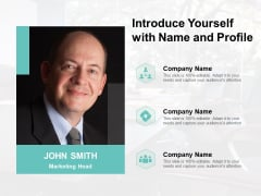 Introduce Yourself With Name And Profile Ppt Powerpoint Presentation Ideas Icon