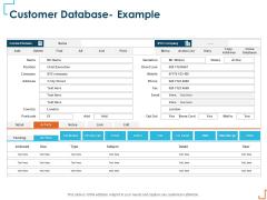 Introducing CRM Framework Within Organization Customer Database Example Mockup PDF