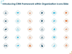 Introducing CRM Framework Within Organization Icons Slide Ppt PowerPoint Presentation Slides Templates PDF