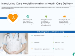 Introducing Care Model Innovation In Health Care Delivery Ppt File Outline PDF