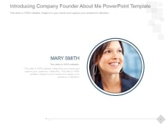 Introducing Company Founder About Me Ppt PowerPoint Presentation Professional