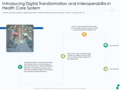 Introducing Digital Transformation And Interoperability In Health Care System Ppt Styles Tips PDF