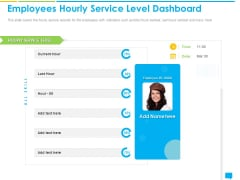 Introducing Management System Effectively Handling Customer Queries Employees Hourly Service Level Dashboard Portrait PDF