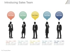 Introducing Sales Team Ppt PowerPoint Presentation Example 2015