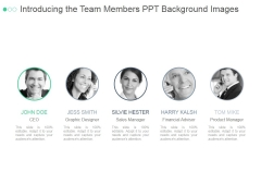 Introducing The Team Members Ppt PowerPoint Presentation Portfolio