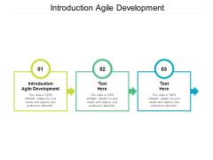 Introduction Agile Development Ppt PowerPoint Presentation Summary Portrait Cpb