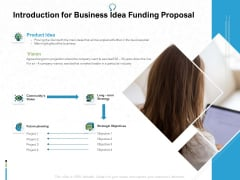 Introduction For Business Idea Funding Proposal Ppt PowerPoint Presentation Model Example