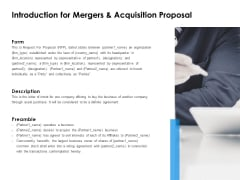 Introduction For Mergers And Acquisition Proposal Ppt PowerPoint Presentation Styles Pictures